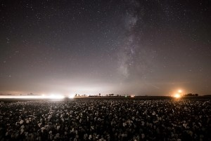 milky way over the delta