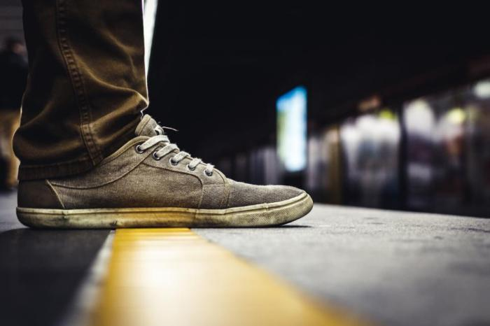 shoes, sneakers, lifestyle, metro, subway, station, transportation, urban