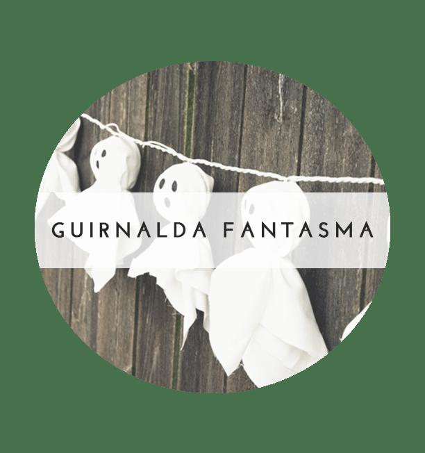 guirnalda de fantasmas DIY