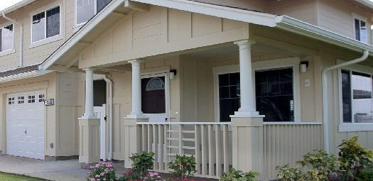 Front Porch of Two Story House