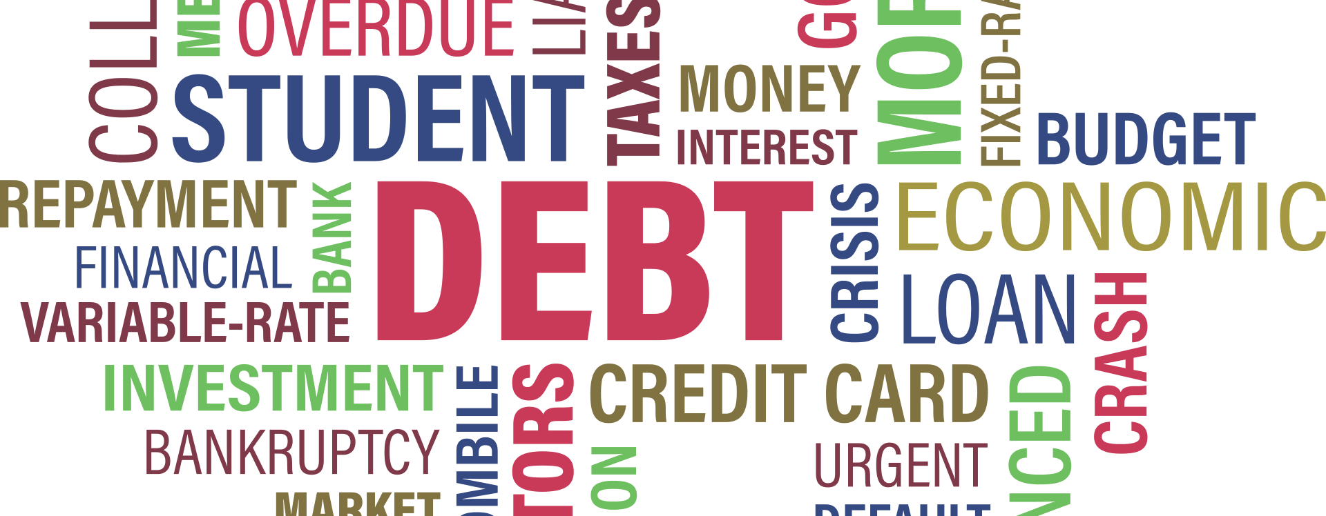 student loan debt word cloud repayment loans education