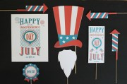Photo Booth Props on a stick for the 4th of July