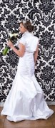 Photo Booth Backdrop with Damask print