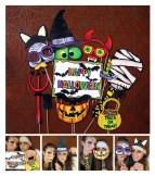 Halloween DIY photo booth props on a stick