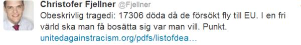Christofer Fjellner  Fjellner  på Twitter