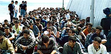 Båtmigranter till Europa