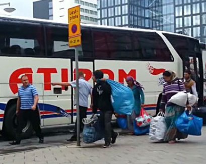 Rumänska tiggarbussar
