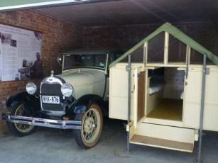 Hans Heysen's Car and Caravan