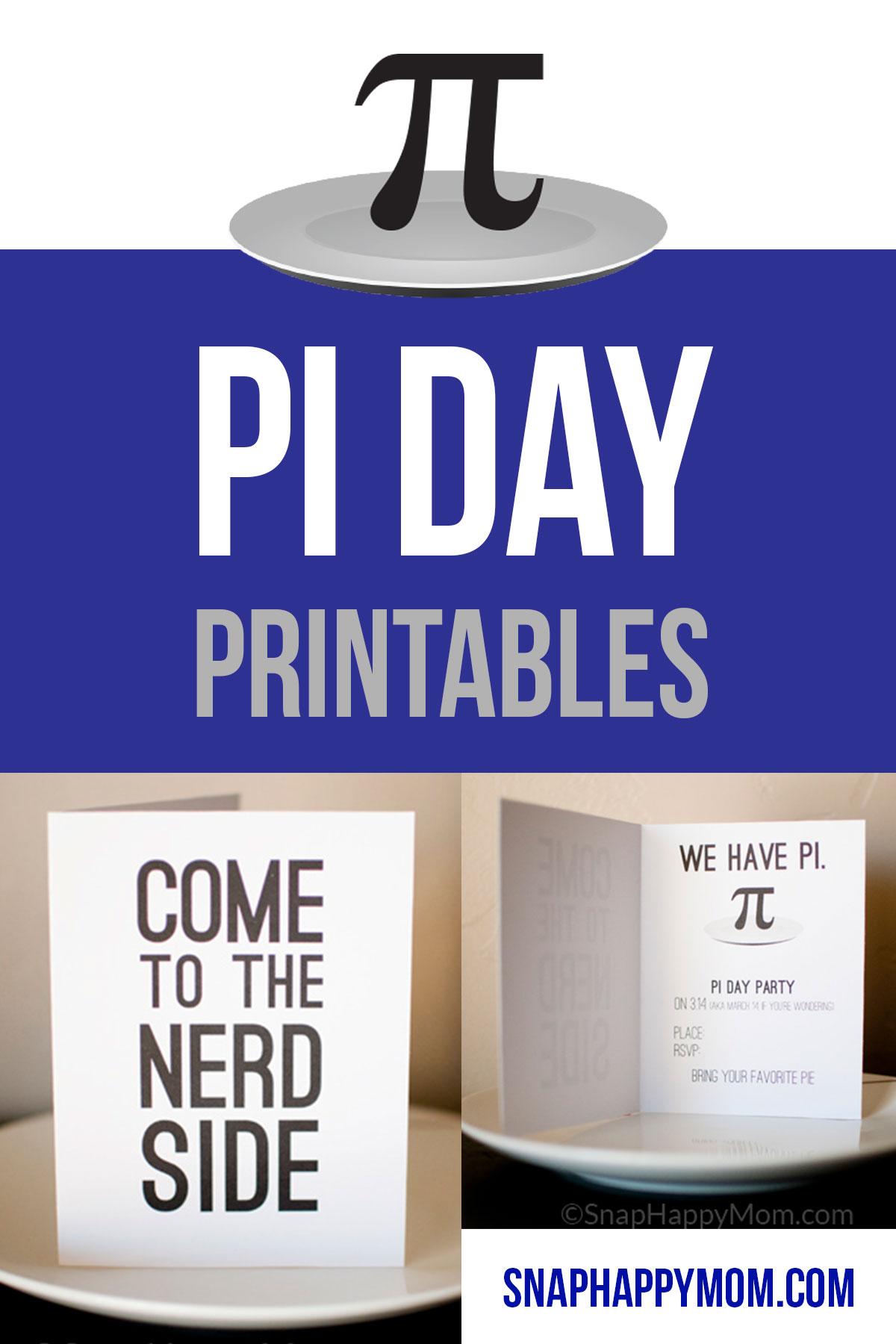 Pi Day Invitations