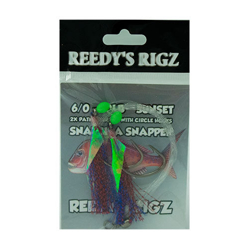 flasher rig , sunset , snapper snatcher by reedys rigz