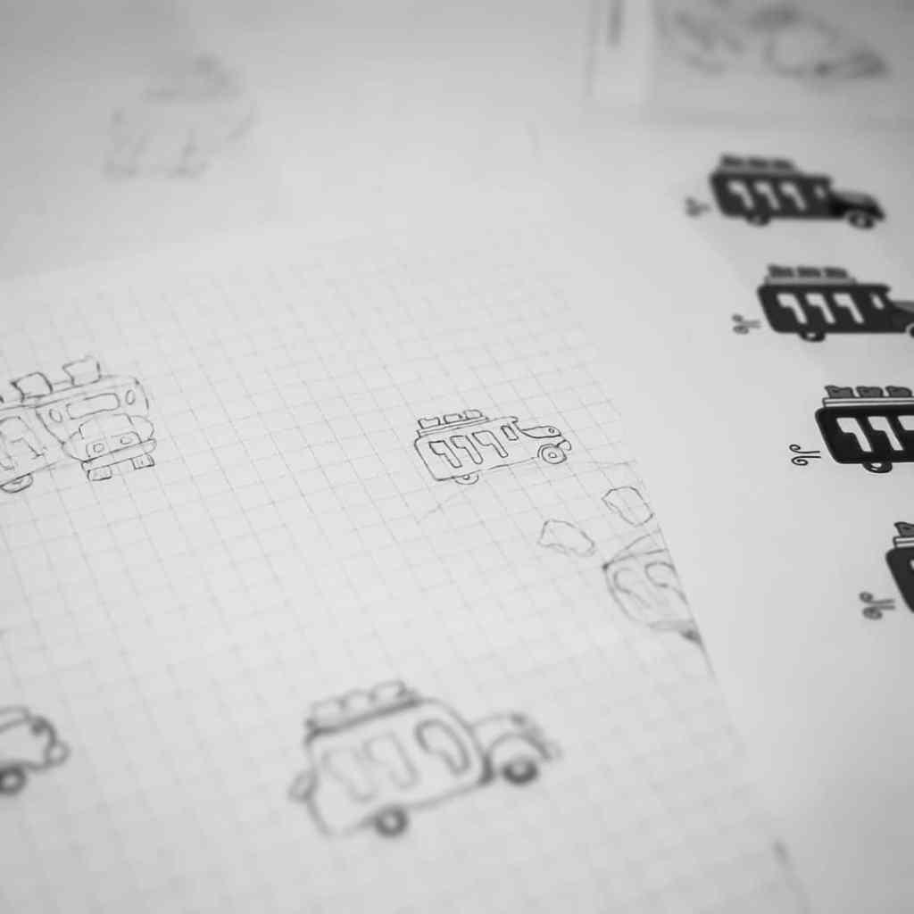 Chiva Roasters Design skitser