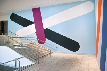 WALL PAINTING No.183, Grip. 2007, acrylic on wall, 640 x 2340 cm. Hammer Museum, Los Angeles, USA / PEINTURE MURALE No.183, Grip. 2007, acrylique sur mur, 640 x 2340 cm. Hammer Museum, Los Angeles, États-Unis