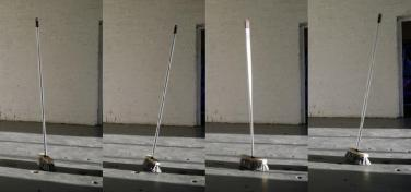 Broom. Broom brush, batteries, motor vibrator. 2012 / Broom. Balai, batteries, moteur, vibrateur. 2012