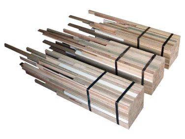 Faggots (triptych). 2007, 3 elements, wood and metal, dimensions variable / Fagots (tryptique). 2007, 3 éléments, bois et métal, dimensions variables