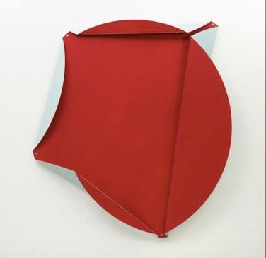 Quadratur des Kreises (Squaring Of Circle). 2013, enamel, aluminium folded, ø 143 cm / Quadrature du Cercle. 2013, émail sur aluminium, plié, ø 143 cm