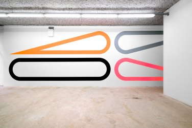 Wall painting No. 435, Untitled, 2016 - Acrylique sur mur, acrylic on wall - 370x1340cm