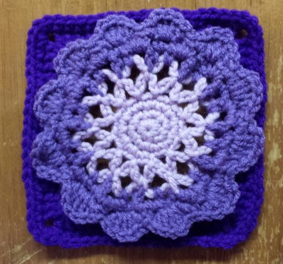 Free Pattern: 6 Inch Crochet Square