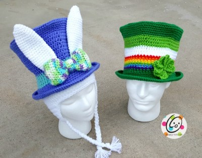 Crochet pattern to make top hats