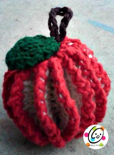 fruit scrubber free crochet pattern