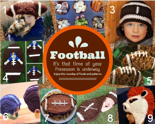 Football munchies and things to crochet.