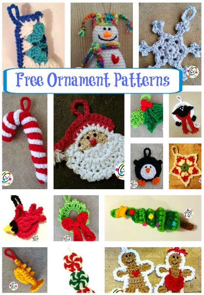 Free crochet ornament patterns.