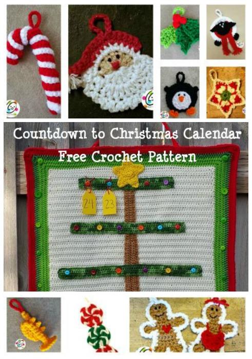 countdown calendar crochet pattern from snappy tots