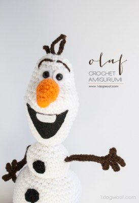 Olaf Crochet Amigurumi from One Dog Woof.