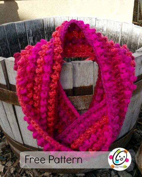 jellybean scarf free crochet pattern
