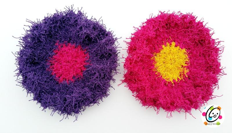 flower dot scrubbies