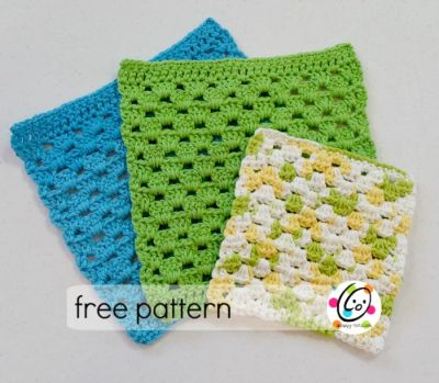 Free Pattern: Granny Dish Cloth