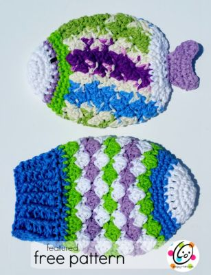 Featured Free Pattern: Fish Scrubbies