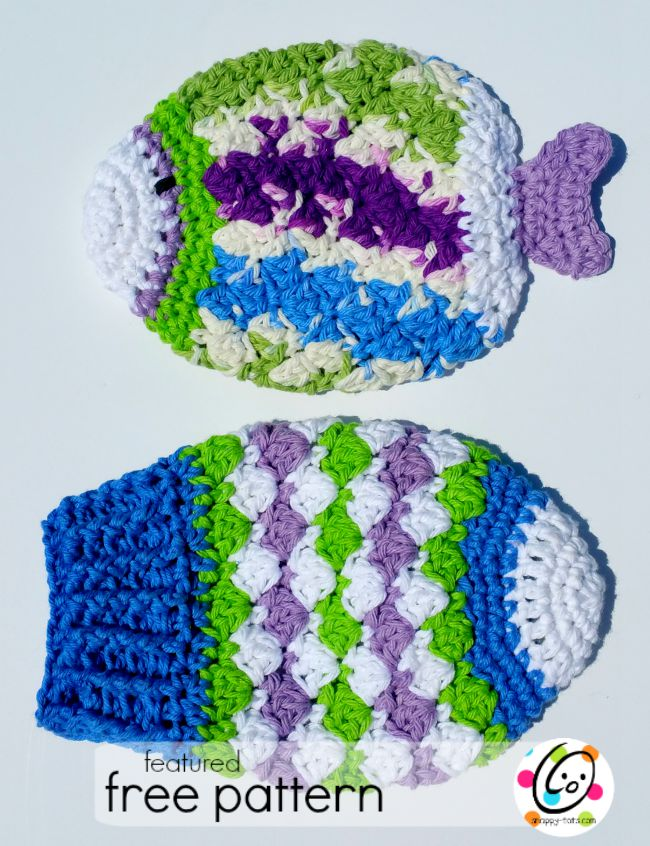 Featured Free Pattern: Fish Scrubbies ~ Snappy Tots