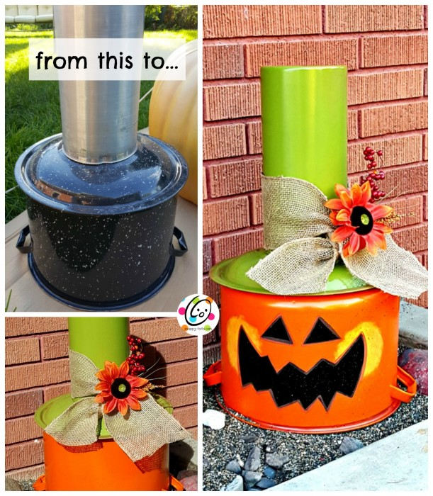 DIY pumpkin stack