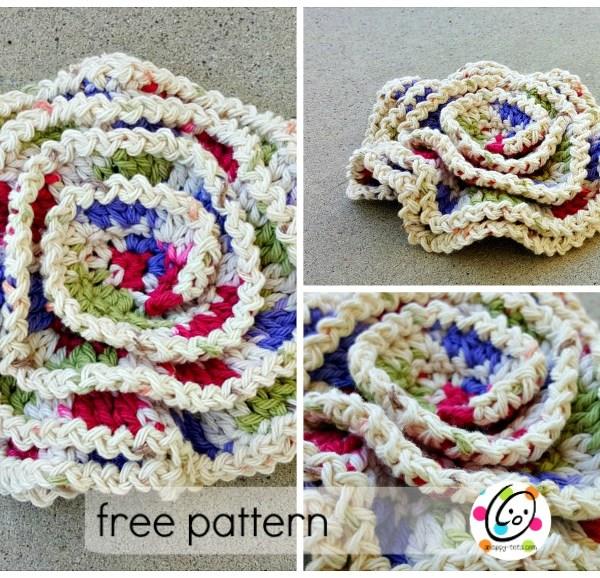 Free Pattern: Wavy Layers Scrubbie