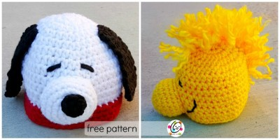 Free Pattern: Snoopy and Woodstock Beanies