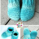 Free Pattern: Big Kids Happy Feet Slippers