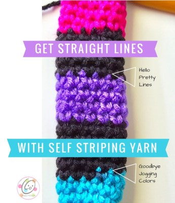 Tip: Get straight lines with self striping yarns