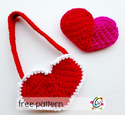Free Pattern: Heart Pocket and Purse