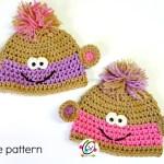 Pattern: Twin Baby Monkey Beanies