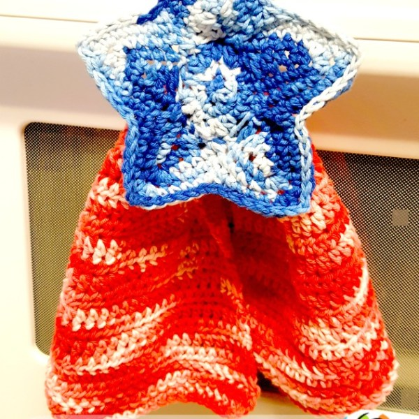 Pattern: Patriotic Hanging Hand Towel