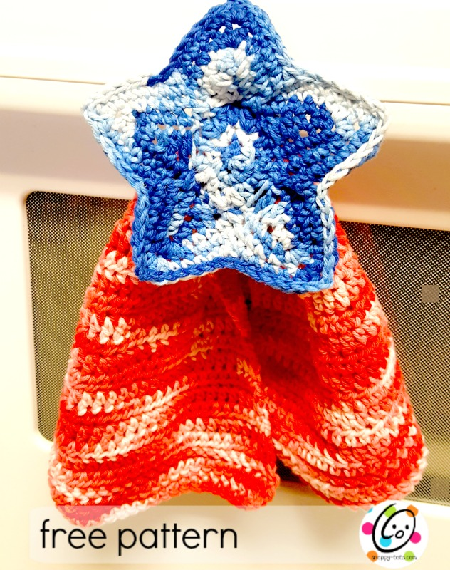 Free Pattern Patriotic Hanging Hand Towel Snappy Tots
