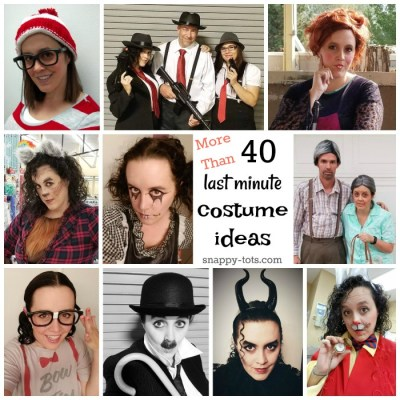 More Than 40 Quick and Easy Last Minute Costume Ideas