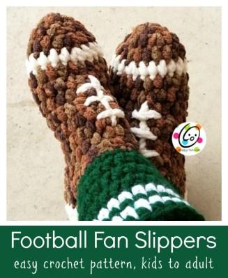 Pattern: Football Fan Slippers