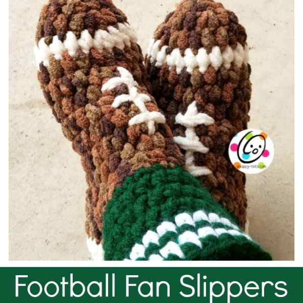 Pattern: Football Fan Slippers