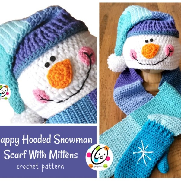 Pattern: Snappy Hooded Snowman Scarf With Mittens