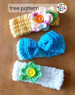 Free Pattern: Baby Lucy Headbands