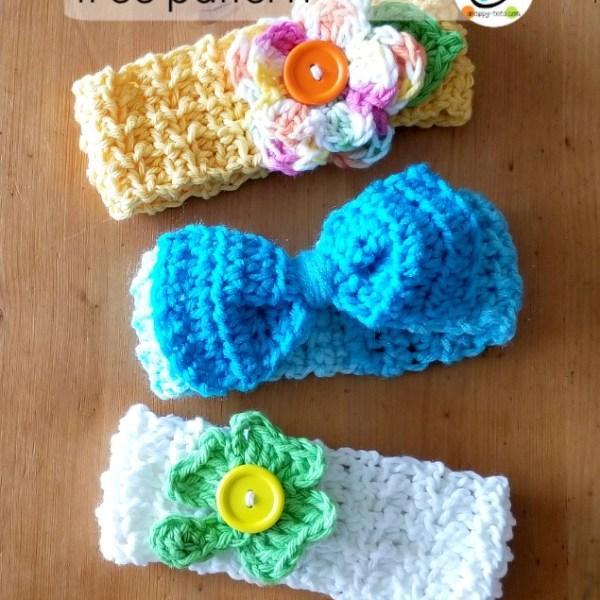 Free Pattern: Baby Lucy Headbands