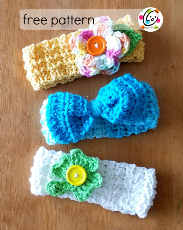 Free Pattern Baby Lucy Headbands