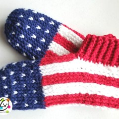 Pattern: patriotic slippers for the family