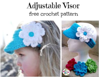 Free Pattern: Adjustable Visor
